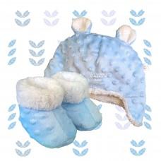 Kit ursinho fleece azul