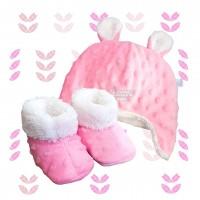 Kit ursinho fleece rosa