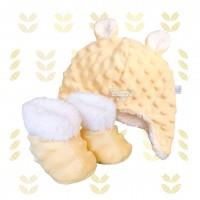 Kit ursinho fleece amarelo