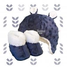 Kit ursinho fleece azul marinho