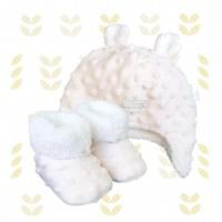 Kit ursinho fleece bege