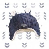 Touca Kim fleece azul marinho