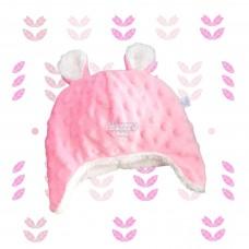 Touca Kim fleece rosa