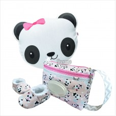 Kit urso panda rosa