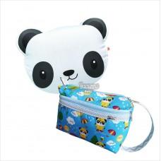 Kit urso panda azul