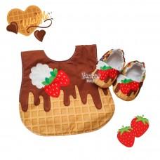 Kit waffle com chocolate e frutas vermelhas
