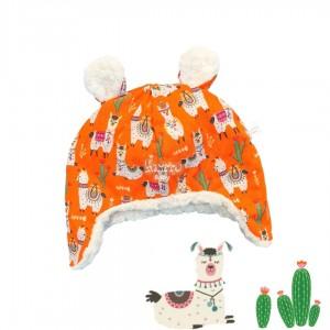 Touca Kim lhama laranja