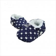 Pantufa coroa azul marinho