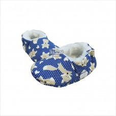 Pantufa raposinha poá azul marinho