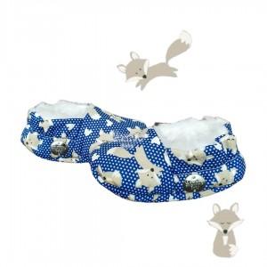 Pantufinha Ariel raposinha azul marinho