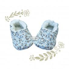 Pantufinha Ariel floral azul