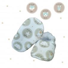 Pantufinha Ariel Soninho azul bottons