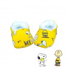 Pantufinha Ariel Snoopy amarelo
