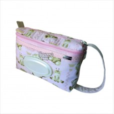 Porta fraldas safari rosa