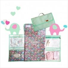 Trocador portátil elefantinho verde