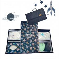 Trocador portátil astronauta azul marinho