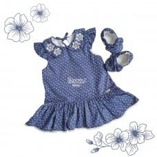Vestido Liz - Jeans floral