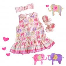 Vestido Liz - Elefantinho rosa
