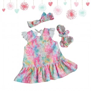 Vestido Liz - Tie dye rosa